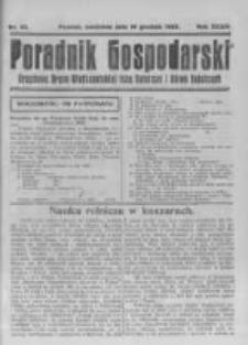 Poradnik Gospodarski. Pismo Tygodniowe. 1923.12.16 R.34 nr50