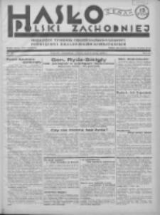 Hasło Polski Zachodniej: niezależny tygodnik chrześcijańsko-narodowy poświęcony zagadnieniom kombatanckim 1936.05.03 R.3 Nr18