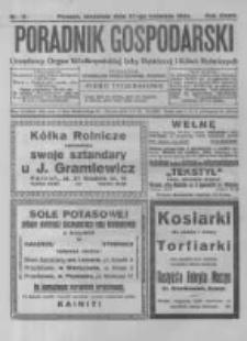 Poradnik Gospodarski. Pismo Tygodniowe. 1924.04.27 R.35 nr17