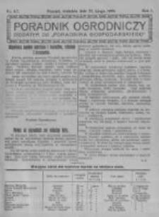 Poradnik Ogrodniczy. 1920.02.22 R.1 nr6-7