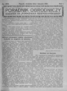 Poradnik Ogrodniczy. 1920.08.01 R.1 nr28-31