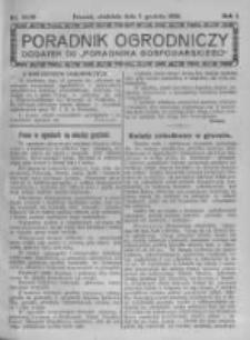Poradnik Ogrodniczy. 1920.12.05 R.1 nr42-49