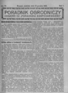Poradnik Ogrodniczy. 1920.12.12 R.1 nr50