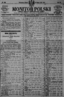 Monitor Polski. Dziennik Urzędowy Rzeczypospolitej Polskiej. 1923.07.20 R.6 nr162
