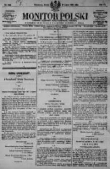 Monitor Polski. Dziennik Urzędowy Rzeczypospolitej Polskiej. 1923.07.25 R.6 nr166
