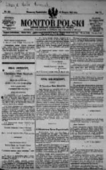 Monitor Polski. Dziennik Urzędowy Rzeczypospolitej Polskiej. 1923.08.20 R.6 nr187