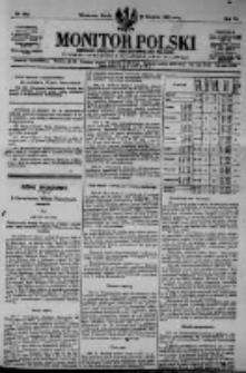 Monitor Polski. Dziennik Urzędowy Rzeczypospolitej Polskiej. 1923.08.29 R.6 nr195
