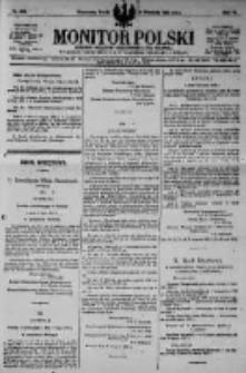 Monitor Polski. Dziennik Urzędowy Rzeczypospolitej Polskiej. 1923.09.12 R.6 nr206