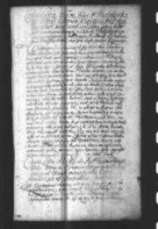 Copia Listu Podskarbiego W. K. do Xcia Kardynała Michała Radziejowskiego, w ktorym daie Respons na List JKMci do siebie ut Supra pisany
