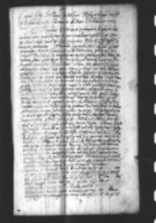 Kopia listu pisanego do woiewództw wielkopolskich do Obozu pod Opatów JP Rafała Leszczyńskiego Podskarbiego koronnego