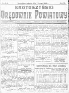 Krotoszyński Orędownik Powiatowy 1920.02.07 R.72 Nr8/9