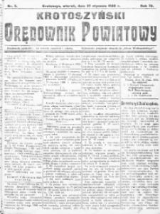 Krotoszyński Orędownik Powiatowy 1920.01.27 R.72 Nr5