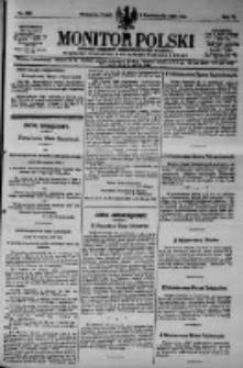 Monitor Polski. Dziennik Urzędowy Rzeczypospolitej Polskiej. 1923.10.05 R.6 nr226