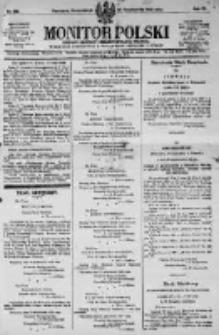 Monitor Polski. Dziennik Urzędowy Rzeczypospolitej Polskiej. 1923.10.29 R.6 nr246