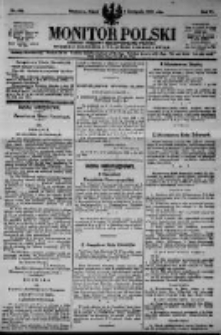 Monitor Polski. Dziennik Urzędowy Rzeczypospolitej Polskiej. 1923.11.02 R.6 nr249