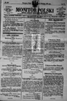 Monitor Polski. Dziennik Urzędowy Rzeczypospolitej Polskiej. 1923.11.21 R.6 nr265