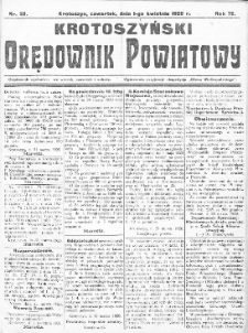 Krotoszyński Orędownik Powiatowy 1920.04.01 R.72 Nr32