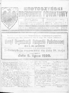 Krotoszyński Orędownik Powiatowy 1920.04.29 R.27 Nr42