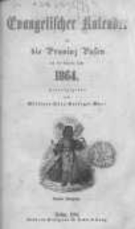 Evangelischer Kalender für die Provinz Posen auf das Jahr 1864 Jg.4