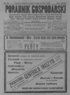 Poradnik Gospodarski. Pismo Tygodniowe. 1926.12.19 R.37 nr51