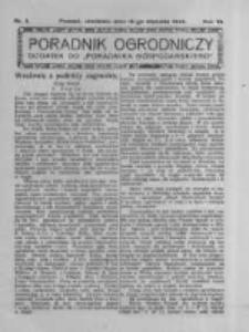 Poradnik Ogrodniczy. 1925.01.18 R.6 nr3