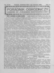 Poradnik Ogrodniczy. 1925.06.07 R.6 nr22-23