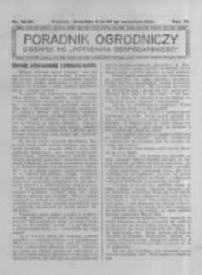 Poradnik Ogrodniczy. 1925.09.27 R.6 nr38-39
