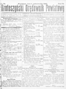 Krotoszyński Orędownik Powiatowy 1920.10.01 R.72 Nr79