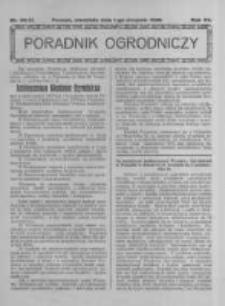 Poradnik Ogrodniczy. 1926.08.01 R.7 nr30-31