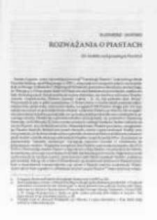 Rozważania o Piastach. (Ze studiów nad genealogią Piastów), cz. 1