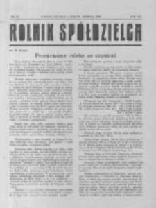 Rolnik Spółdzielca. 1930.08.31 R.7 nr18