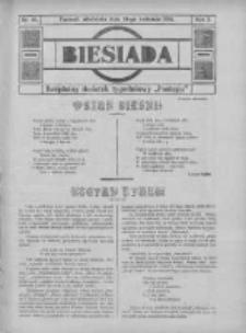 """Biesiada: bezpłatny dodatek tygodniowy """"Postępu"""" 1914.04.19 R.2 Nr16"""