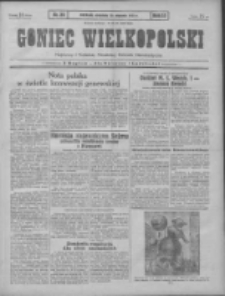 Goniec Wielkopolski: najtańsze pismo codzienne dla wszystkich stanów 1931.01.25 R.55 Nr20