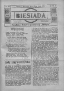 """Biesiada: bezpłatny dodatek tygodniowy """"Postępu"""" 1917.05.20 R.5 Nr20"""