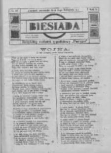 """Biesiada: bezpłatny dodatek tygodniowy """"Postępu"""" 1917.11.04 R.5 Nr44"""