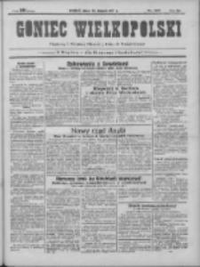 Goniec Wielkopolski: najtańsze pismo codzienne dla wszystkich stanów 1931.08.28 R.55 Nr197