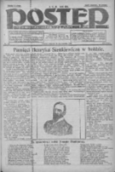 Postęp: dziennik chrześcijański i narodowy: wychodzi w Poznaniu 1924.10.26 R.35 Nr249