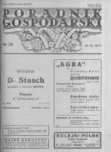 Poradnik Gospodarski. Pismo Tygodniowe. 1937.09.19 R.48 nr38