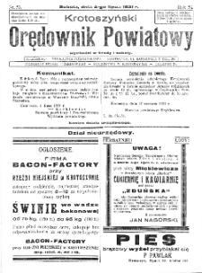 Krotoszyński Orędownik Powiatowy 1931.07.04 R.56 Nr53
