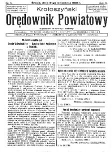 Krotoszyński Orędownik Powiatowy 1931.09.09 R.56 Nr71