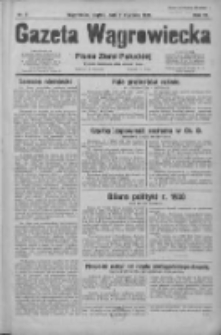 Gazeta Wągrowiecka: pismo ziemi pałuckiej 1931.01.02 R.11 Nr2
