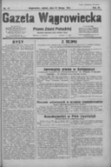 Gazeta Wągrowiecka: pismo ziemi pałuckiej 1931.02.27 R.11 Nr47