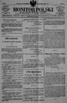 Monitor Polski. Dziennik Urzędowy Rzeczypospolitej Polskiej. 1922.09.25 R.5 nr217