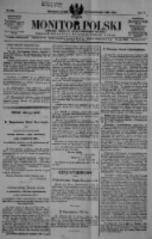 Monitor Polski. Dziennik Urzędowy Rzeczypospolitej Polskiej. 1922.10.27 R.5 nr245