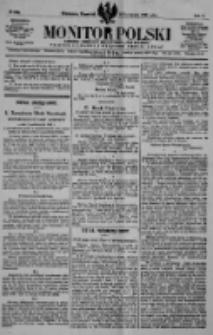 Monitor Polski. Dziennik Urzędowy Rzeczypospolitej Polskiej. 1922.11.02 R.5 nr249