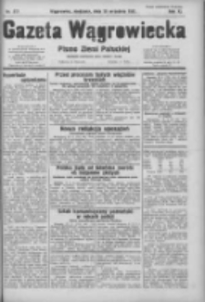 Gazeta Wągrowiecka: pismo ziemi pałuckiej 1931.09.20 R.11 Nr217
