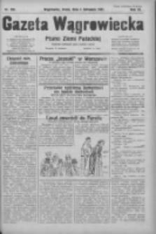 Gazeta Wągrowiecka: pismo ziemi pałuckiej 1931.11.04 R.11 Nr255