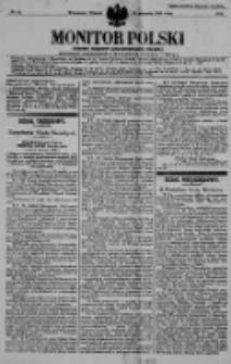 Monitor Polski. Dziennik Urzędowy Rzeczypospolitej Polskiej. 1938.01.18 R.21 nr13