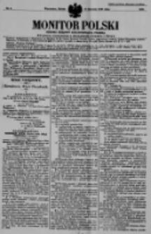 Monitor Polski. Dziennik Urzędowy Rzeczypospolitej Polskiej. 1938.01.08 R.21 nr5