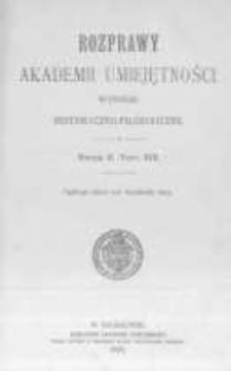 Rozprawy Akademii Umiejętności. Wydział Historyczno-Filozoficzny. Serya II. 1899. Tom 13